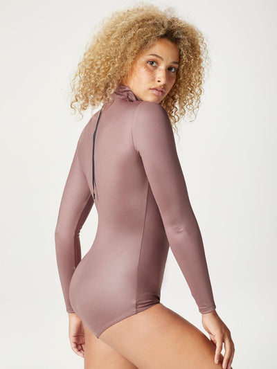 Releve Fashion Michi Rosewood Electric Bodysuit Ethical Designer Brand Sustainable Fashion Athleisure Activewear Athleticwear Positive Luxury Brands to Trust Purchase with Purpose Shop for Good