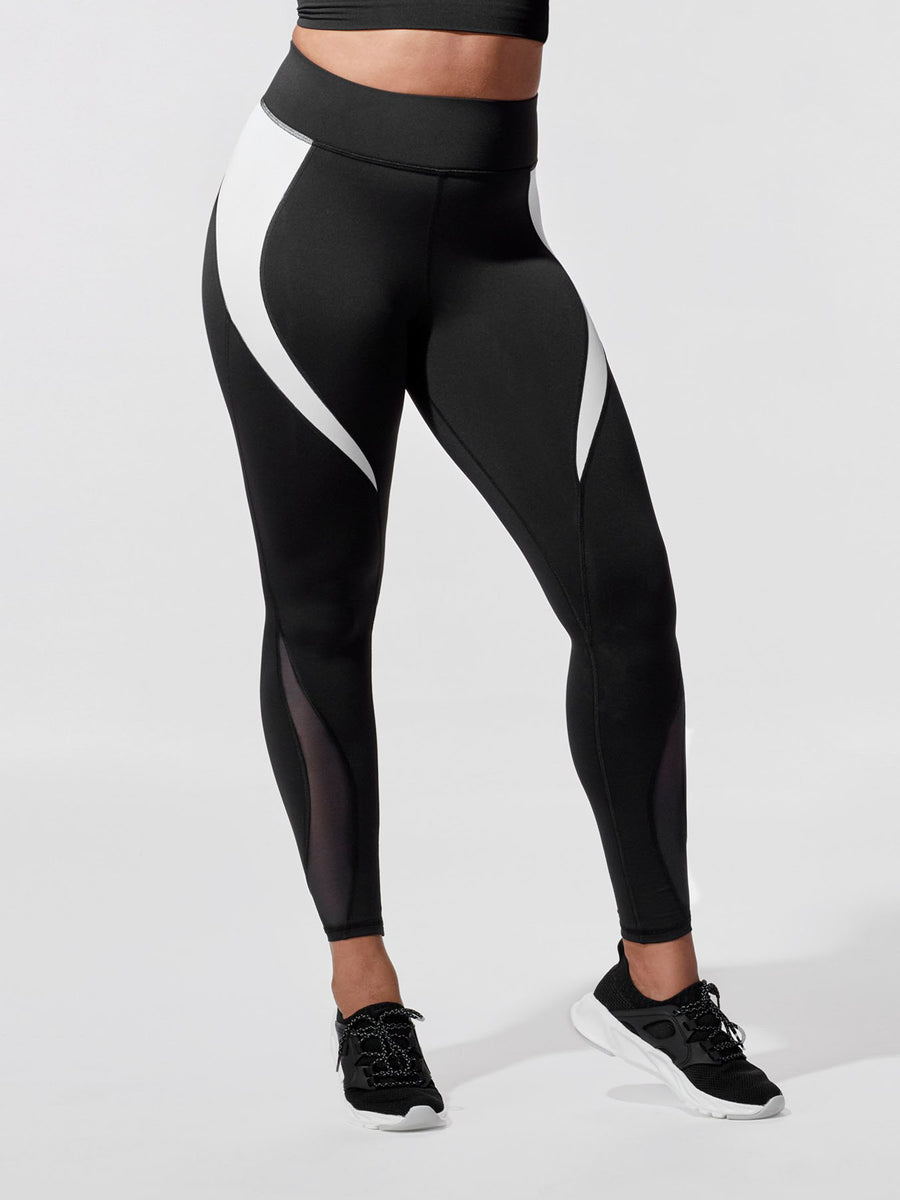 Releve Fashion Michi Black White Flare Leggings Ethical Designer Brand Sustainable Fashion Athleisure Activewear Athleticwear Positive Luxury Brands to Trust Purchase with Purpose Shop for Good