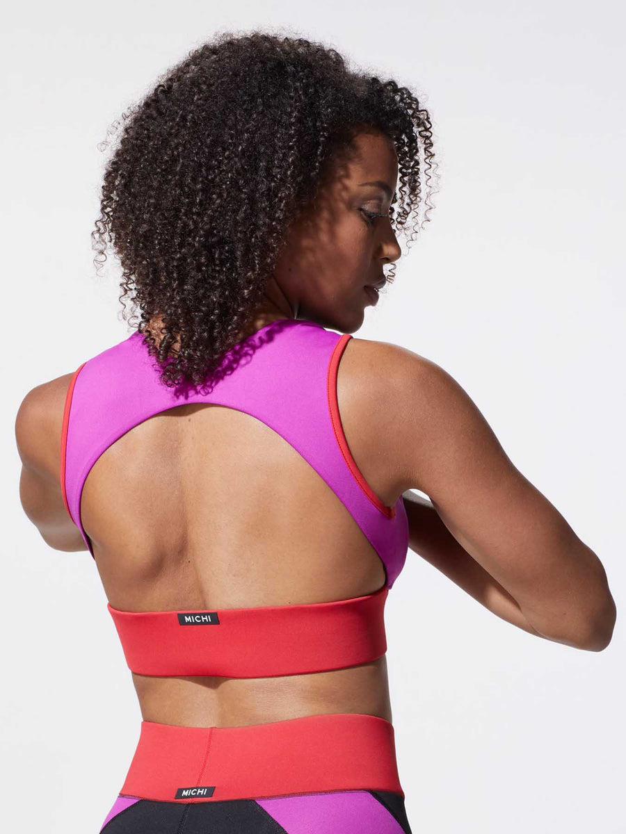 Releve Fashion Michi Blaze Flare Sports Bra Ethical Designer Brand Sustainable Fashion Athleisure Activewear Athleticwear Positive Luxury Brands to Trust Purchase with Purpose Shop for Good