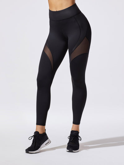 Releve Fashion Michi Black Glow Legging Ethical Designer Brand Sustainable Fashion Athleisure Activewear Athleticwear Positive Luxury Brands to Trust Purchase with Purpose Shop for Good