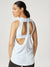 Hustle Tank, White
