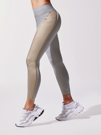 Releve Fashion Michi Golden Platinum Linear Legging Ethical Designer Brand Sustainable Fashion Swimwear Athleisure Activewear Athleticwear Positive Luxury Brands to Trust Purchase with Purpose Shop for Good
