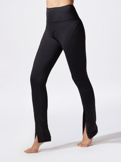 Releve Fashion Michi Black Nocturnal High Waisted Zip Legging Ethical Designer Brand Sustainable Fashion Athleisure Activewear Athleticwear Positive Luxury Brands to Trust Purchase with Purpose Shop for Good