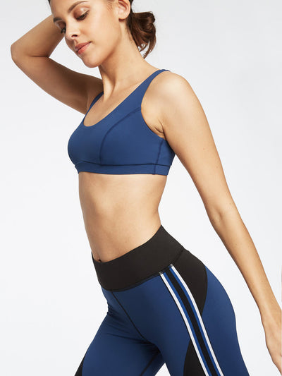 Releve Fashion Michi Adriatic Blue Principal Sports Bra Ethical Designer Brand Sustainable Fashion Athleisure Activewear Athleticwear Positive Luxury Brands to Trust Purchase with Purpose Shop for Good