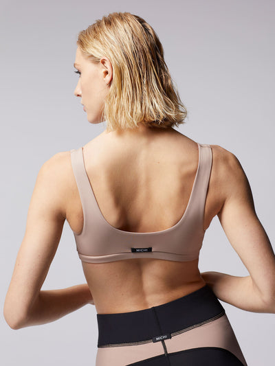 Releve Fashion Michi Nude Pink Principal Sports Bra Ethical Designer Brand Sustainable Fashion Athleisure Activewear Athleticwear Positive Luxury Brands to Trust Purchase with Purpose Shop for Good