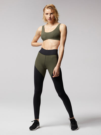Releve Fashion Michi Olive Principal Sports Bra Ethical Designer Brand Sustainable Fashion Athleisure Activewear Athleticwear Positive Luxury Brands to Trust Purchase with Purpose Shop for Good