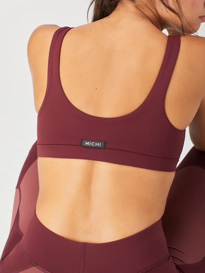 Releve Fashion Michi Wine Principal Sports Bra Ethical Designer Brand Sustainable Fashion Athleisure Activewear Athleticwear Positive Luxury Brands to Trust Purchase with Purpose Shop for Good