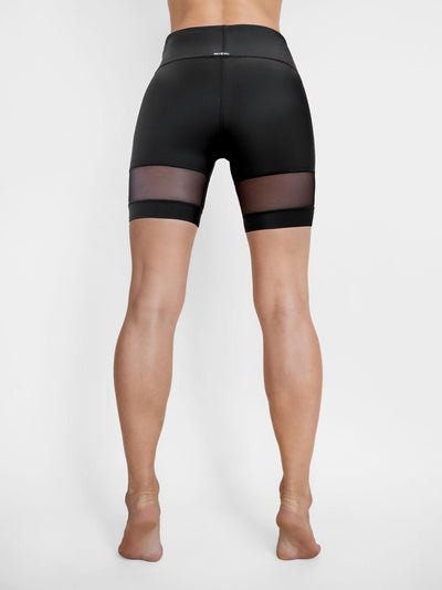 Releve Fashion Michi Black Psyloque Bike Short Ethical Designer Brand Sustainable Fashion Athleisure Activewear Athleticwear Positive Luxury Brands to Trust Purchase with Purpose Shop for Good