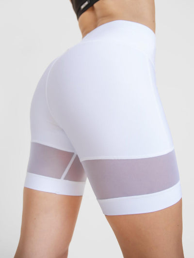 Releve Fashion Michi White Psyloque Bike Short Ethical Designer Brand Sustainable Fashion Athleisure Activewear Athleticwear Positive Luxury Brands to Trust Purchase with Purpose Shop for Good