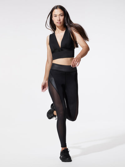 Releve Fashion Michi Black Raven Legging Ethical Designer Brand Sustainable Fashion Athleisure Activewear Athleticwear Positive Luxury Brands to Trust Purchase with Purpose Shop for Good