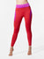 Raven Legging, Magenta / Fire Red