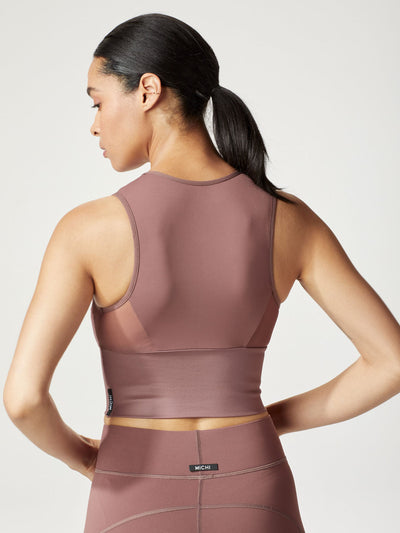 Releve Fashion Michi Rosewood Rise Bustier Ethical Designer Brand Sustainable Fashion Athleisure Activewear Athleticwear Positive Luxury Brands to Trust Purchase with Purpose Shop for Good