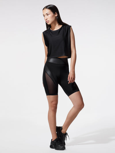 Releve Fashion Michi Black Sail Crop Top Ethical Designer Brand Sustainable Fashion Athleisure Activewear Athleticwear Positive Luxury Brands to Trust Purchase with Purpose Shop for Good