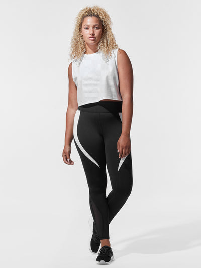 Releve Fashion Michi White Sail Crop Top Ethical Designer Brand Sustainable Fashion Athleisure Activewear Athleticwear Positive Luxury Brands to Trust Purchase with Purpose Shop for Good