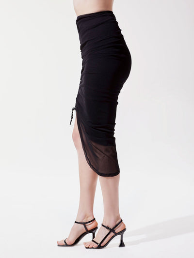 Releve Fashion Michi Black Shade Skirt Ethical Designer Brand Sustainable Fashion Athleisure Activewear Athleticwear Positive Luxury Brands to Trust Purchase with Purpose Shop for Good