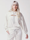 Releve Fashion Michi Ivory Splice Hoodie Ethical Designer Brand Sustainable Fashion Athleisure Activewear Athleticwear Positive Luxury Brands to Trust Purchase with Purpose Shop for Good