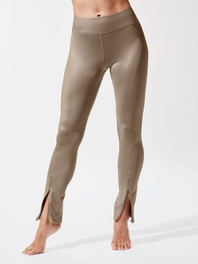 Releve Fashion Michi Golden Splice Legging Ethical Designer Brand Sustainable Fashion Athleisure Activewear Athleticwear Positive Luxury Brands to Trust Purchase with Purpose Shop for Good