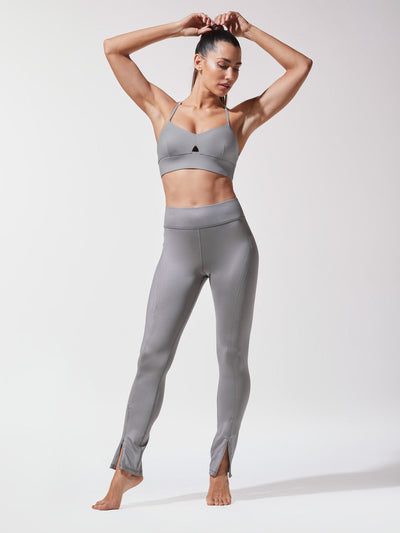 Releve Fashion Michi Platinum Splice Legging Ethical Designer Brand Sustainable Fashion Athleisure Activewear Athleticwear Positive Luxury Brands to Trust Purchase with Purpose Shop for Good