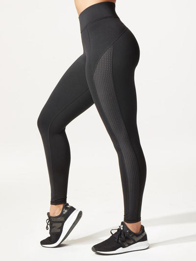 Releve Fashion Michi Black Stardust Airwave Legging Ethical Designer Brand Sustainable Fashion Athleisure Activewear Athleticwear Positive Luxury Brands to Trust Purchase with Purpose Shop for Good