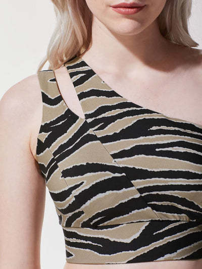 Releve Fashion Michi Tiger Print Tigress Sports Bra Ethical Designer Brand Sustainable Fashion Athleisure Activewear Athleticwear Positive Luxury Brands to Trust Purchase with Purpose Shop for Good