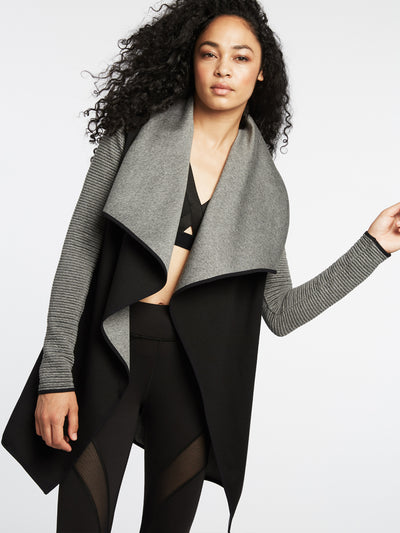 Releve Fashion Michi Dusk Wrap Jacket Black Activewear Athleisure Wear Ethical Designers Sustainable Fashion Brands Purchase with Purpose Shop for Good