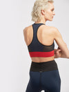 Releve Fashion Michi Deep Sea Navy Fire Red Inversion Bra Activewear Athleisure Wear Ethical Designers Sustainable Fashion Brands Purchase with Purpose Shop for Good