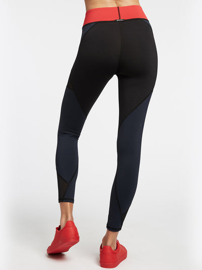 Releve Fashion Michi Deep Sea Navy Black Fire Red Inversion Leggings Activewear Athleisure Wear Ethical Designers Sustainable Fashion Brands Purchase with Purpose Shop for Good
