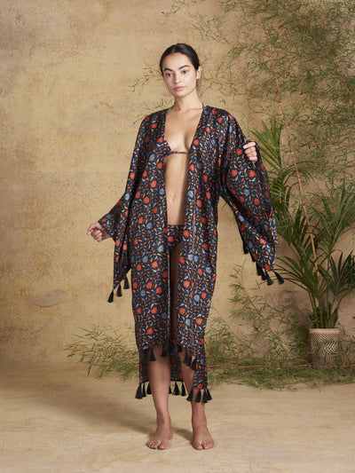 Releve Fashion Muzungu Sisters Blossom Kimono Halcyon Fables Ethical Designers Sustainable Fashion Brand Handmade Artisanal Positive Fashion Conscious Luxury Purchase with Purpose Shop for Good