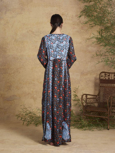 Releve Fashion Muzungu Sisters Halcyon Embroidered Silk Dress Bamboo Fables Ethical Designers Sustainable Fashion Brand Handmade Artisanal Positive Fashion Conscious Luxury Purchase with Purpose Shop for Good