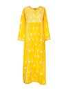 Releve Fashion Muzungu Sisters Yellow Embroidered Silk Dress Ethical Designers Sustainable Fashion Brand Handmade Artisanal Positive Fashion Purchase with Purpose Shop for Good