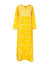 Embroidered Silk Dress, Yellow