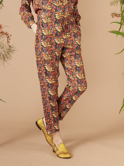 Releve Fashion Muzungu Sisters Poppy Black Print Fern Pants Ethical Designers Sustainable Fashion Brand Handmade Artisanal Positive Fashion Purchase with Purpose Shop for Good