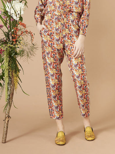 Releve Fashion Muzungu Sisters Poppy White Print Fern Pants Ethical Designers Sustainable Fashion Brand Handmade Artisanal Positive Fashion Purchase with Purpose Shop for Good