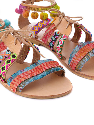 Releve Fashion Muzungu Sisters Hula Hoop Flat Sandals Ethical Designers Sustainable Fashion Brand Handmade Artisanal Positive Fashion Purchase with Purpose Shop for Good