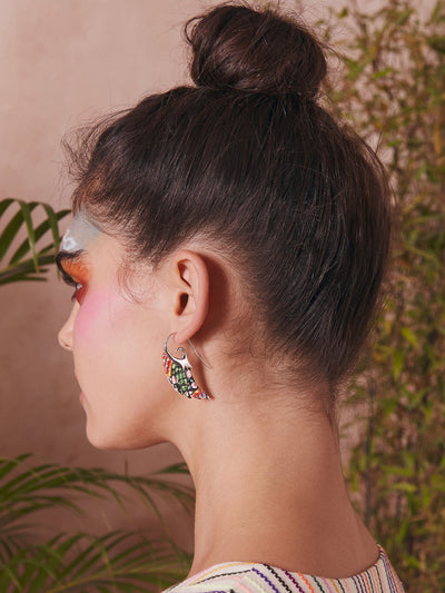 Releve Fashion Muzungu Sisters Noor Fares Wing Earrings Ethical Designers Sustainable Fashion Brand Handmade Artisanal Positive Fashion Purchase with Purpose Shop for Good