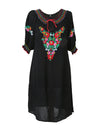 Releve Fashion Muzungu Sisters Clothing Eva Black Embroidered Dress Ethical Designers Sustainable Fashion Brand Handmade Artisanal Positive Fashion Purchase with Purpose Shop for Good