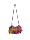 Releve Fashion Muzungu Sisters Half Moon Embellished Shoulder Bag Ethical Designers Sustainable Fashion Brand Handmade Artisanal Positive Fashion Purchase with Purpose Shop for Good