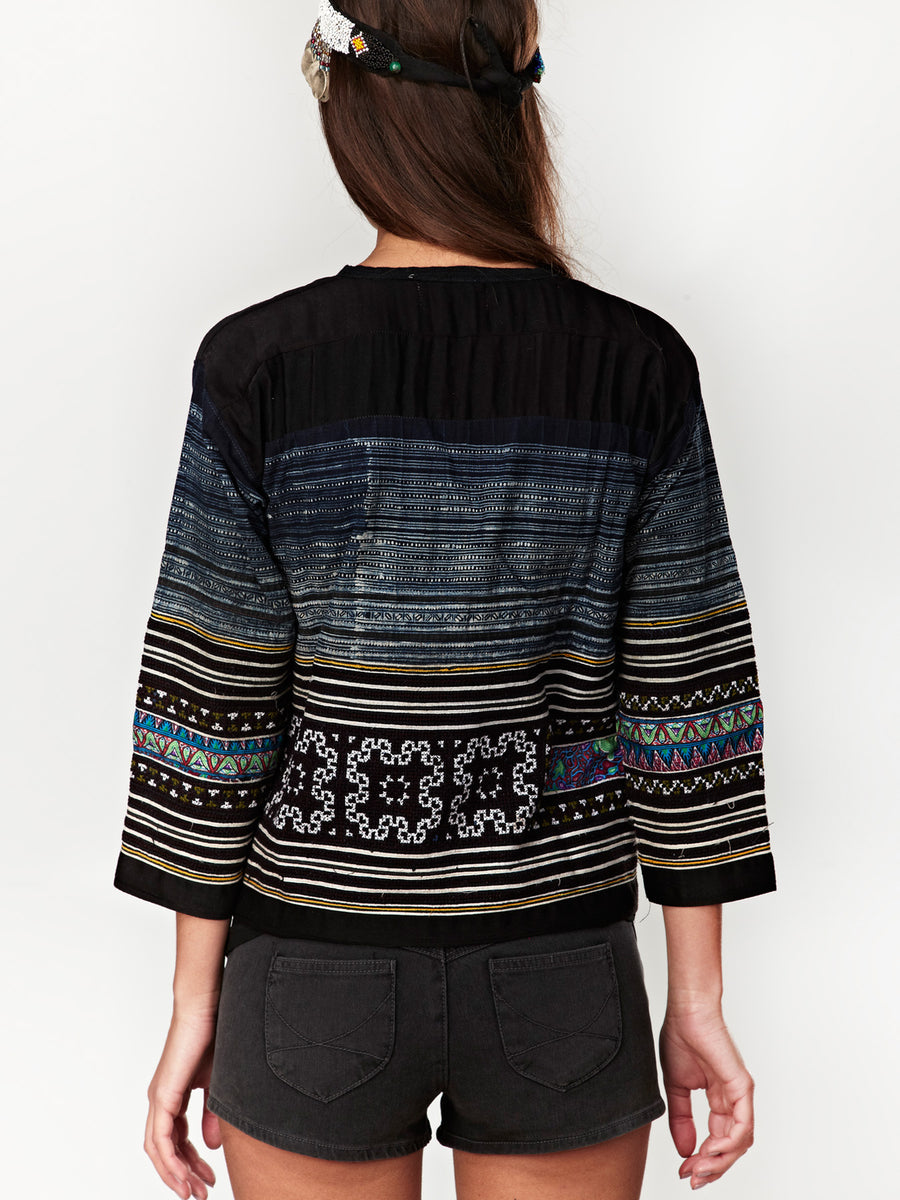 Laos Handwoven Cotton Jacket