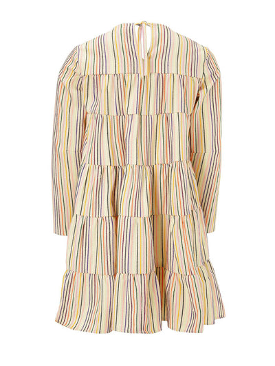 Releve Fashion Muzungu Sisters Lily Rainbow Stripe Dress Ethical Designers Sustainable Fashion Brand Handmade Artisanal Positive Fashion Purchase with Purpose Shop for Good
