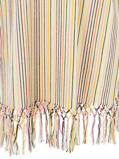 Releve Fashion Muzungu Sisters Peyote Rainbow Striped Cotton Dress Ethical Designers Sustainable Fashion Brand Handmade Artisanal Positive Fashion Purchase with Purpose Shop for Good