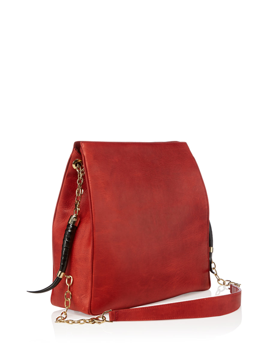 Lamia Scarlet Red Blesbok, Gold Hardware