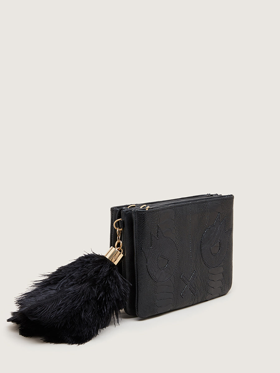 Limited Edition Okapi x Quentin Jones Clutch, Black