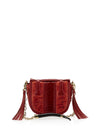 Releve Fashion Okapi Small Yemaja Scarlet Red Ostrich Shin Blesbok Gold Hardware Shop Buy Now Sustainable Fashion Ethical Fashion Positive Fashion Positive Luxury Brand Accessories Shoulder Bag Mini Bag Top Handle