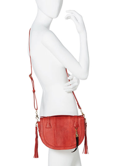 Releve Fashion Okapi Yemaja Scarlet Red Blesbok Gold Hardware Shop Buy Now Sustainable Fashion Ethical Fashion Positive Fashion Positive Luxury Brand Accessories Shoulder Bag Top Handle