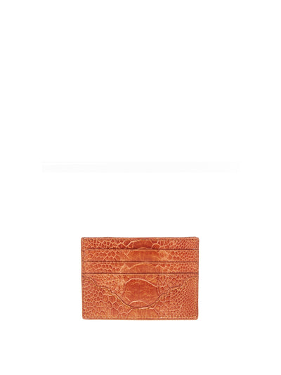 Releve Fashion Cardholder Burnt Amber Ostrich Shin Gloss Sustainable Ethical Fashion Brand Positive Luxury Positive Fashion Purchase with Purpose Shop for Good