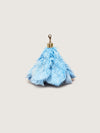 Releve Fashion Okapi Bag Charm Ostrich Feather Truex Blue Gold Hardware Sustainable Ethical Fashion Brand Positive Luxury Positive Fashion Purchase with Purpose Shop for Good