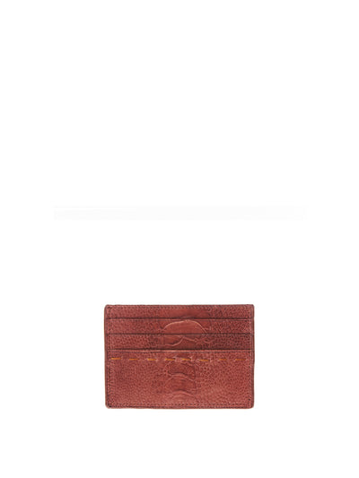 Releve Fashion Cardholder Mid Brown Ostrich Shin Sustainable Ethical Fashion Brand Positive Luxury Positive Fashion Purchase with Purpose Shop for Good