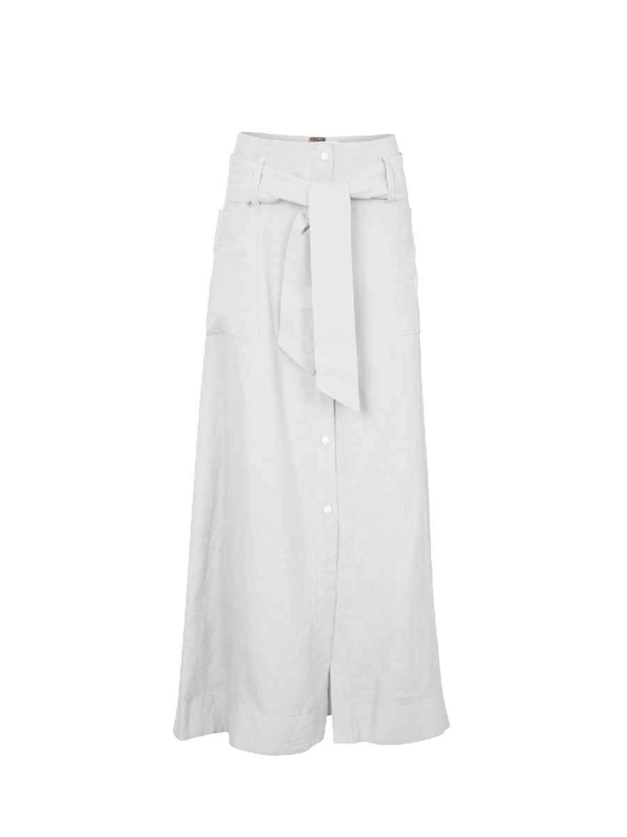 Nomade Linen Skirt, White