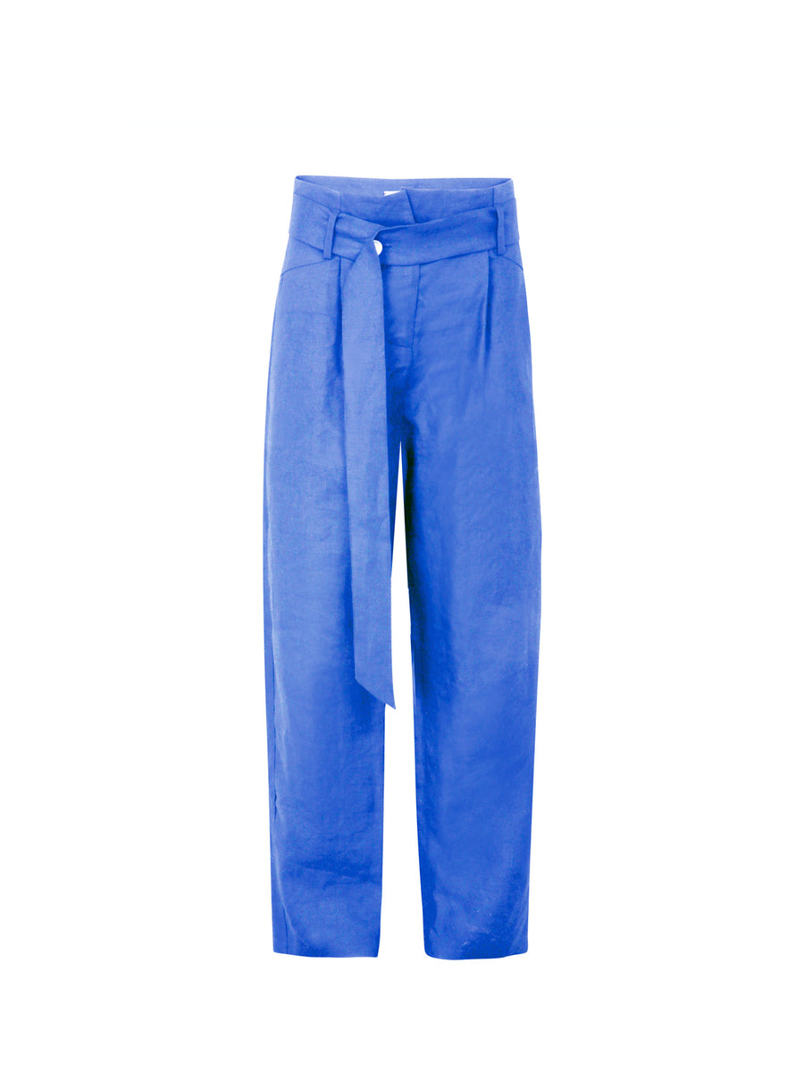 Nomade Linen Suit Trousers, Blue