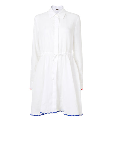 Releve Fashion Oramai London Amalfi Short Dress White Ethical Designers Sustainable Fashion Brands Eco-Age Brandmark Purchase with Purpose Shop for Good